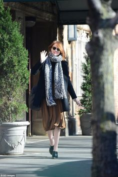 Signature accessory: Emma sported her favorite pair of sunglasses while out in New York on Sunday