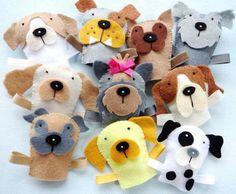 Felt Dog Finger Puppets | Craftsy