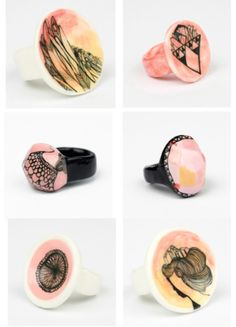 porcelain jewelry; from Melbourne http://www.goldenink.com.au/  via holdtight.tumblr.com