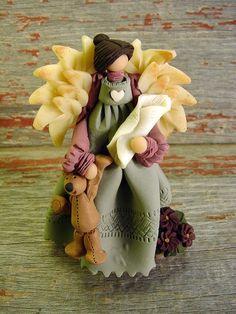 polymer clay angel | Trina's Trinketts: Etsy Finds Friday - My Heaven Sent