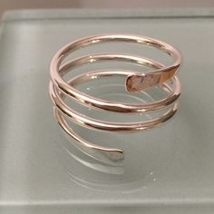 Sale today! Wrap around ring Unique style! Sterling silver. Beautiful ring Jewelry Rings