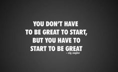 Start to Great