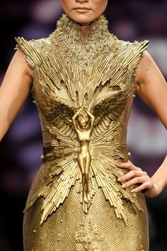 Modern Goddess: Golden Gown Dream Tex Saverio..seriously, take a close look! This is flipping AMAZING....My goodness