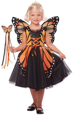 Monarch Butterfly Princess Kids Costume - Mr. Costumes                                                                                                                                                     More