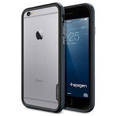 iPhone 6 Case, Spigen Neo Hybrid EX Case for iPhone 6 (4.7-Inch) - Retail Packaging -  Metal Slate (SGP11023)