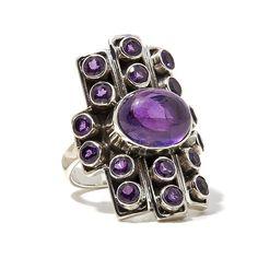 Nicky Butler Gemstone Sterling Silver Linear Ring - Purple
