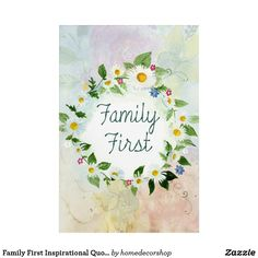 Family First Inspirational Quote Acrylic Wall Art