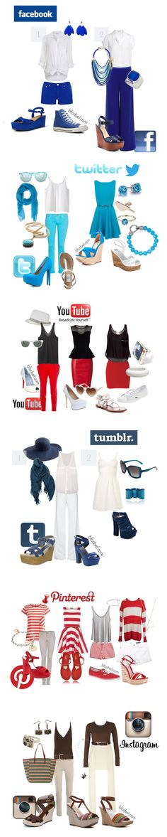 FUN! Social Media Inspired Outfits! Theme party idea? Love Pinterest and Instagram ♥