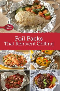 Wrap up dinner, or a simple side, with these foil-pack faves. We've got a recipe for whatever you crave, and you'll love how much clean-up these'll save!