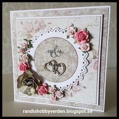 Randis hobbyverden: Bryllupskort til Mr.& Mrs