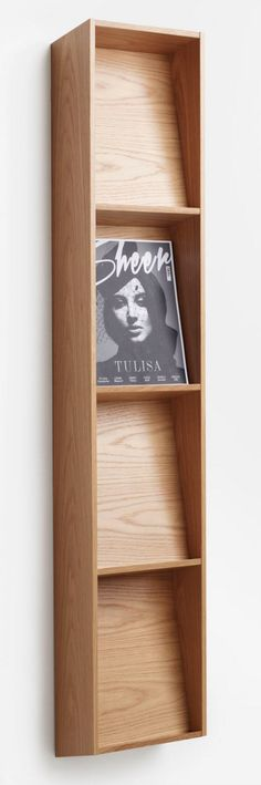 postcard display shelf | Présentoir mural bois design Karl Andersson Wood Wall Shelve #design Brochure display