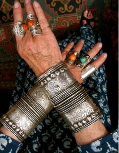 Tribal and ethnic silver jewelry Tribal Jewelry, Bohemian Jewelry, Indian Jewelry, Silver Jewelry, Silver Earrings, 925 Silver, Tibetan Jewelry, Silver Cuff, Sterling Silver
