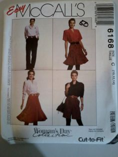 Easy McCall's Women's Day Collection Pattern by SunriseHillDesigns, $4.50
