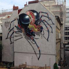14 originales graffitis que crean ilusiones ópticas impresionantes y colosales …