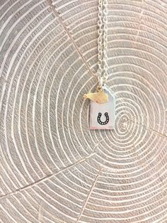 Horseshoe Kentucky Necklace, KY necklace, KY jewelry, horseshoe necklace, horseshoe jewelry KY horseshoe, I love Kentucky by JustStampItGifts on Etsy https://www.etsy.com/listing/511404698/horseshoe-kentucky-necklace-ky-necklace
