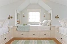 Bunk Bed Storage - Transitional - girl's room - Liz Levin Interiors