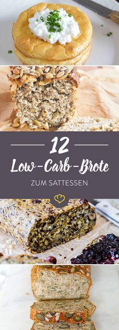 12 gesunde Low-Carb-Brote zum Bestreichen und Sattessen Who bakes his own bread, leaves wheat flour and extra sugar just away. Because as healthy low-carb cuts make these 12 loaves a good figure. Paleo Dessert, Healthy Dessert Recipes, Keto Snacks, Low Carb Recipes, Low Carb Bread, Low Carb Keto, Menu Dieta Paleo, C'est Bon, Food And Drink