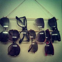 sun glass holder - if I'm real lazy