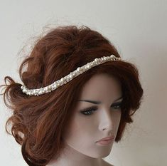 Pearl and Crystal Bridal Hairpiece Rhinestone wedding headpiece pearl headpiece bridal headband Wedding Hair Accessories Bridal Hair