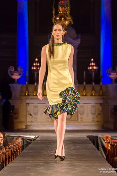 Cocody Collections for the Black Fashion Week Montreal 2014 - Woman Classy Carpet Dress