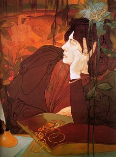"""The Voice of Evil"", 1895, by Georges De Feure (French, 1868-1943)"