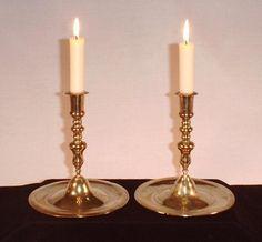 Pair of Neuremberg brass candlesticks, 17th century price $2200