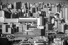 David Goldblatt - The city from the south-west, Johannesburg Jan 1964 Silver gelatin photograph on fibre-based paper approx. 30 x Edition of GALLERY : artists David Goldblatt, News South Africa, Johannesburg City, My Family History, Slums, Built Environment, Urban Planning, Aerial View, Urban Decay
