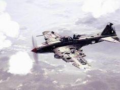 Слегка повреждённый Ил-2М. И ведь летит, чертяга!