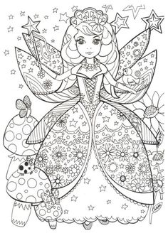 79 best Fairy Colouring Pages images on Pinterest | Coloring pages ...