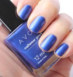 #Mani #Nails #Avon nailwear pro+ in Cosmic Blue. Shop for more bright vibrant shades at: http://krislingsch.avonrepresentative.com/