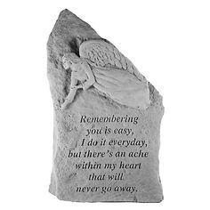 Show your love and remembrance with the enduring beauty of the Remembering You Is Easy Memorial Stone Totem . This lovely memorial stone totem has a. Memorial Garden Stones, Garden Stepping Stones, Goodbyes Are Not Forever, Memorial Markers, Crushed Stone, Lanterns Decor, Cast Stone, Garden Accessories, Pet Memorials