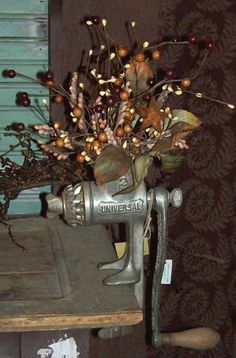 great idea for a meat grinder... would be neat to change out the arrangement with the seasons