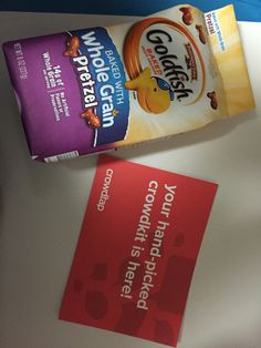 Pepperidge arms goldfish, now whole grains are available in several different flavors making these the perfect snack for kids and moms alike. ;) received these free from crowdtap #gotitfree #freesample