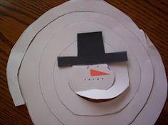 Spiral Snowman Cutting Craft