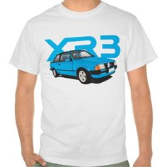 Ford Escort MK3 XR3 blue  #ford #escort #fordescort #mk3 #xr3 #tshirt #thirts #automobile #car #uk