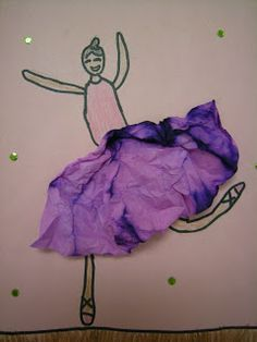 In Art class, graders learned about the artist Edgar Degas. He loved to painted ballerinas and horses. He also showed movement in his paintings. graders drew ballerinas like Degas and used a dyed coffee filter for the tutu! Degas Ballerina, Coffee Filter Art, Degas Dancers, Kids Collage, Dance Crafts, First Grade Art, World Thinking Day, Preschool Art, Art Plastique