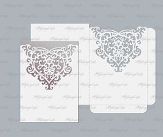 Wedding invitation envelope pocket  svg dxf ai cdr eps
