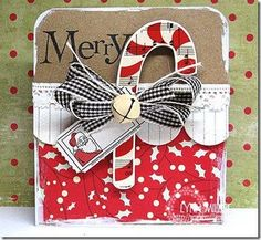 cute candy cane card