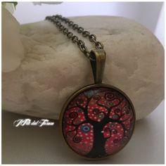 Collana lunga in bronzo albero della vita,medaglione bronzo con cabochon albero della vita, spiritual, zen, bohochic, regalo per damigella di IFilidelTesoro su Etsy