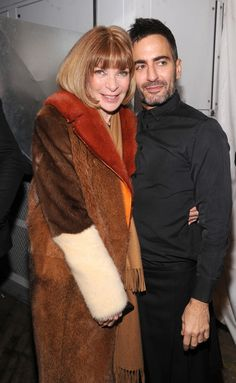 Anna Wintour and Marc backstage at FW12