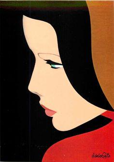 AMLETO DALLA COSTA - Incredible Collection of 9 ART DECO Postcards