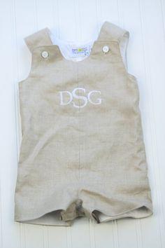 neutral linen, linen babi, monogram linen, linen baby, baby linen