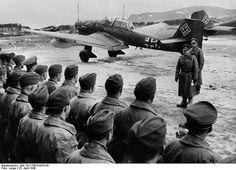 worldwar2historypicsGerman Colonel General Erhard Milch inspecting Luftwaffe pilots, #Trondheim, #Norway, on April 23, 1940. #WWII #history #WW2 #war #wars #historic #historical #air #airforce #germany #germany #plane #planes #veteran #sky #veterans #soldier #europe #soldiers #worldwarii #worldwar2