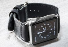 Cordura and Leather Strap for Apple Watch