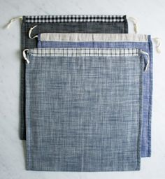 Drawstring Shoe Bags | The Purl Bee