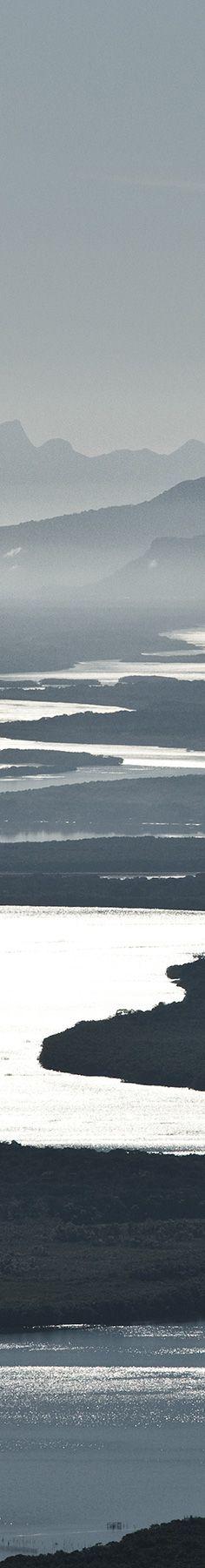 World Water Day - Dia Mundial da Água: Montanhas, rio, mangue e mata atlântica em Ilha Comprida, litoral de São Paulo.