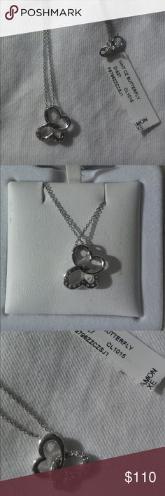 Sterling silver and Swarovski crystal necklace Brand-new with tags's solid sterling silver butterfly necklace decorated with real Swarovski crystals. Tags still attached never been worn. Trade value $150 Swarovski Jewelry Necklaces