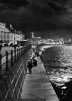 Photo of A Walk On The Promenade Part of The Francis Frith Collection of historic photographs of Britain. Did you know you can browse the archive online today for free? Your nostalgic journey has begun. Vintage Photographs, Vintage Images, Nostalgic Images, Walk On, Life Images, Cornwall, Seaside, Britain, The Past