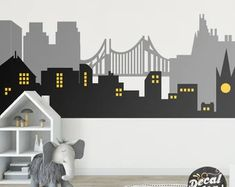 Custom Wall Decals and Murals for Home Decor by decalideas on Etsy Kids Wall Decals, Wall Decal Sticker, Wall Stickers, Wall Vinyl, Vinyl Decals, Boys Room Decor, Playroom Decor, Kids Room, Wall Decor