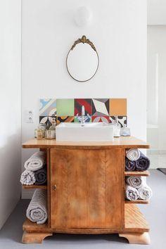 Mieszkanie z patchworkową łazienką